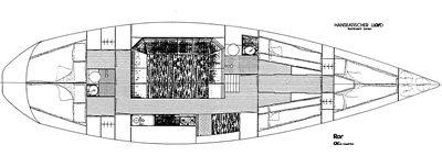 Kojen aufteilung Schulschiff Royana